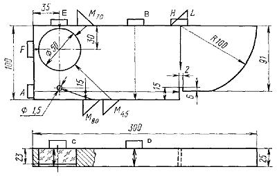 Схема образца V1